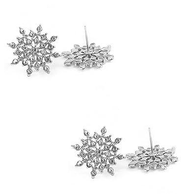 Boucles d/'oreille Flocon de neige 2,7 cm