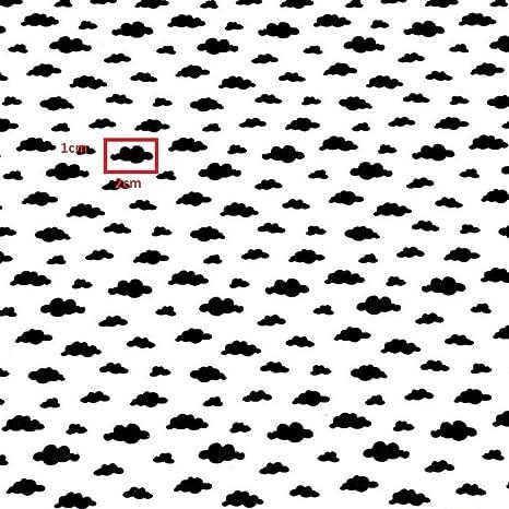 Tela de algodón para niños de Wolke en color blanco y negro, 100 ...