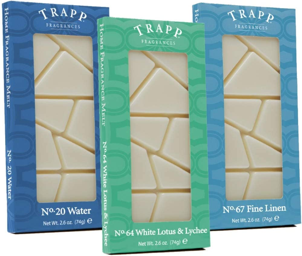 Trapp Home Fragrance Wax Melts, 2.6oz Clean Variety, Set of 3