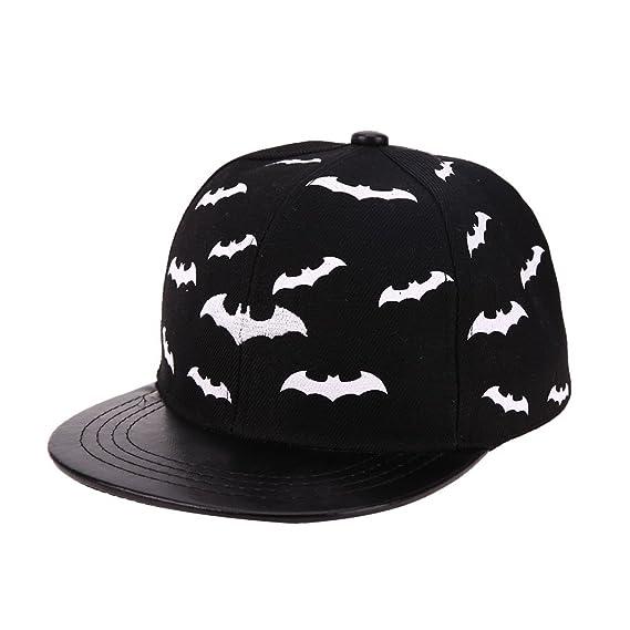 a2212725608 Chinatera Baby Boy s Chinater Baseball Cap Golf Hat Hip Hop Snapback Cap  Flat Hat Average Black