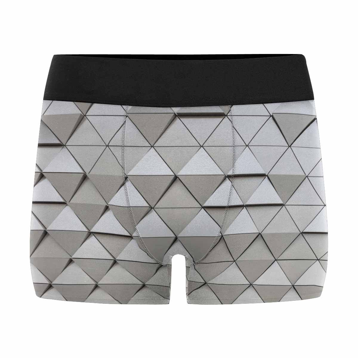 INTERESTPRINT Mens All-Over Print Boxer Briefs Abstract Architectural Pattern XS-3XL