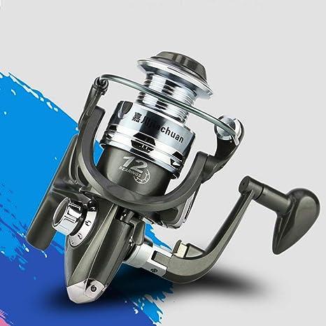 elegantstunning 12 Ejes de plástico, Cuerpo de Metal, Corte de Spinning Wheel Real Fishing Equipo de Pesca, CL3000: Amazon.es: Deportes y aire libre