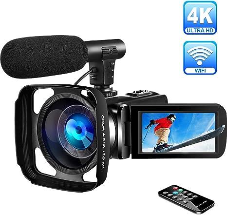 Videocámara 4K Videocamara Ultra HD WiFi Videocámara Digital con ...