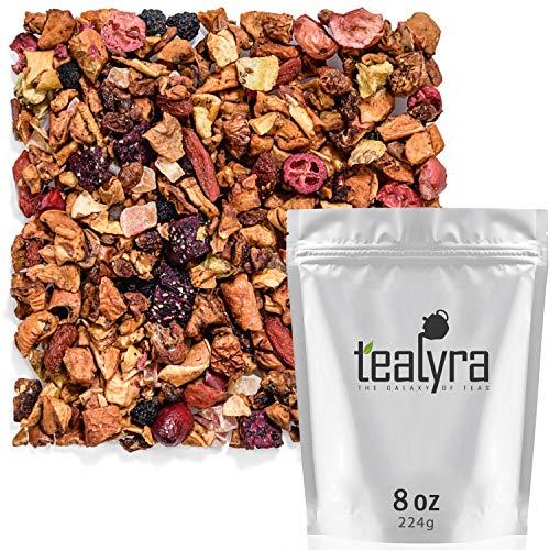 Tealyra - Tropical Harvest - Dragon Fruit - Sea Buckthorn - Goji - Pineapple - Cranberry - Fruity Herbal Loose Leaf Tea - Caffeine Free - Hot or Iced - 224g (8-ounce)