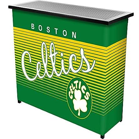 Trademark Global NBA Boston Celtics Portable Bar with Case, One Size, Black