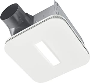 BROAN NuTone AE80LK Flex Bathroom Exhaust Ventilation LED Light, Energy Star Certified, 80 CFM, 0.7 Sones Bath Fan, White