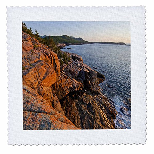 3Drose Qs 90611 6 Maine  Sunrise At Otter Cliffs  Acadia National Park   Us20 Cha0000   Chuck Haney   Quilt Square  16 By 16 Inch