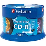 Verbatim Digital Vinyl CD-R™ 80MIN 700MB 52X 50pk Spindle CD-R 700MB 50pc(s) - blank CDs (CD-R, 700 MB, 50 pc(s), 120 mm, 80 min, Spindle)