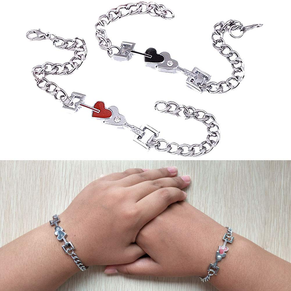 e6428e6c2e Jemant Couples Bracelets King & Queen Crown Him Her Stainless Steel  Hypoallergenic Adjustable Engraved Silver Promise Matching Bracelets  Boyfriend ...