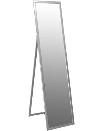 dc5c1ed4e27 Harbour Housewares Metal Framed Free Standing Full Length Mirror 1370mm -  Silver