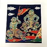 LITERATURE HANUMAN STORY - THAI ART SILK SCREEN FABRIC NO FRAME PICTURE DECOR