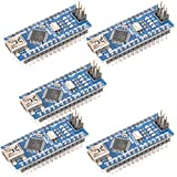 C.J. SHOP? 5PCS MINI USB Nano V3.0 ATmega328P CH340G 5V 16M Micro-controller Board for Arduino