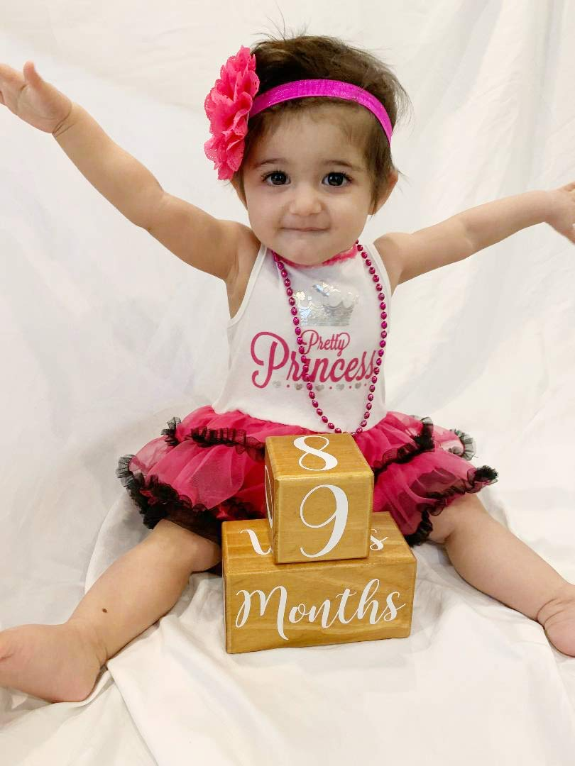 Wood Milestones Age Block Set for Pregnancy KIDYAMI Baby Monthly Milestone Blocks 5 Blocks Baby Photography Props for Social Media,Rustic Baby Nursery Decor Infant and Toddler Years