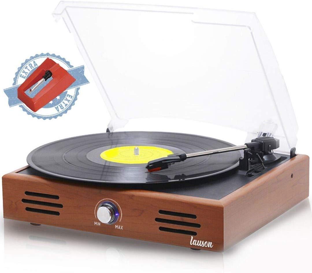 Tocadisco Lauson JTF035 Función de Grabación Encoding PC-Link | Tocadiscos de Vinilo Vintage con Altavoces Incorporados | Reproductor de Vinilo con 3 ...