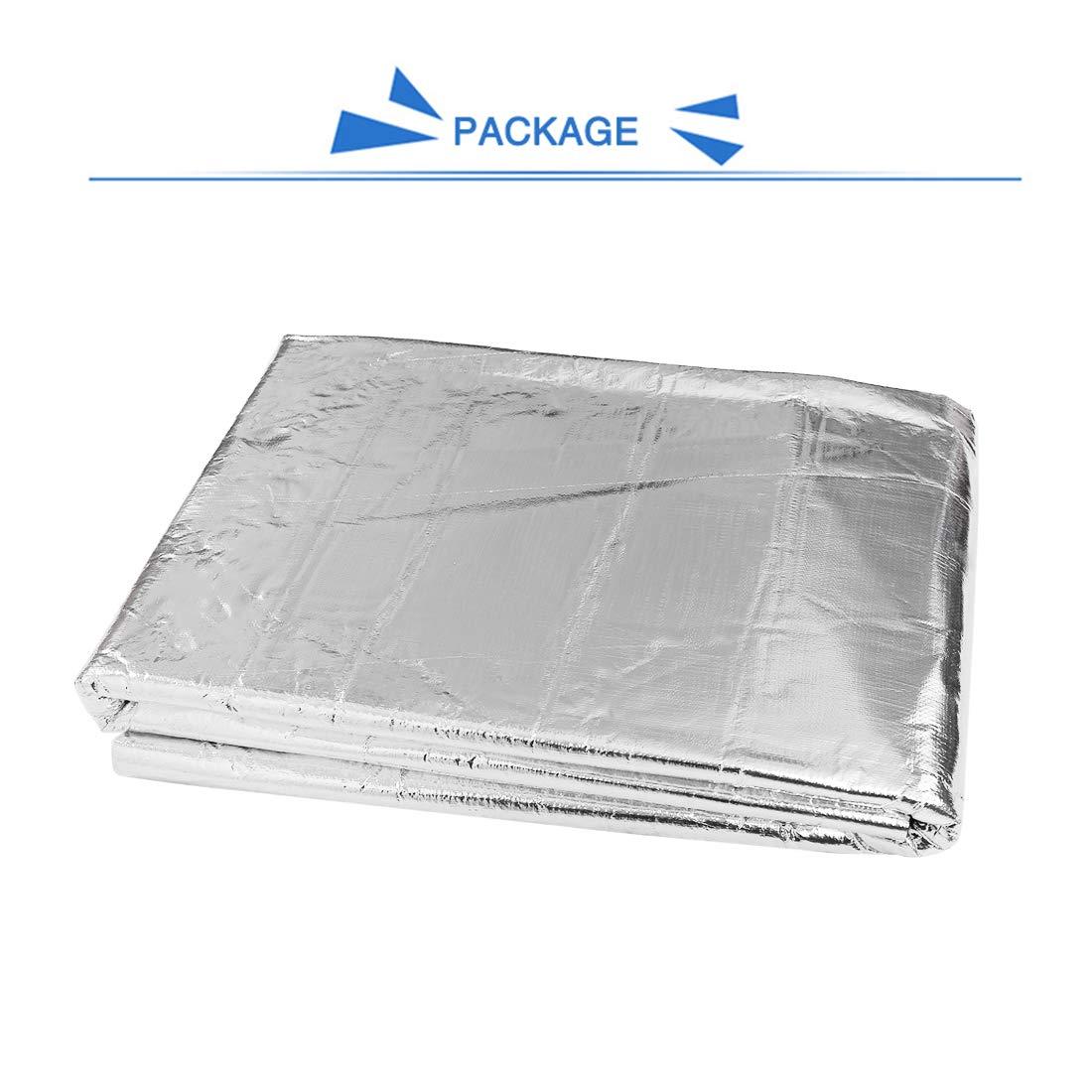 uxcell 197mil//5mm 43sqft Sound Deadening Heat Deadener Insulation Mat Intensive Alumium Foil Acoustic Barrier 157 inches x 39 inches// 400cm x 100cm
