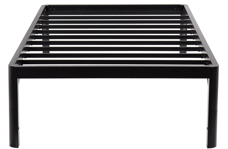 Olee Sleep 18inch Tall Round Edge Steel Slat Bed Frame S-3500 High Profile Platform Bed Frame, Twin Grantec OLR18BF10T