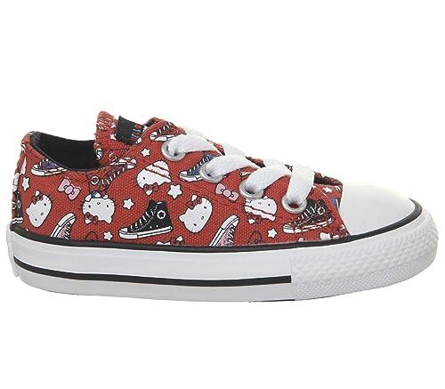 e6d27c999ac9 Converse Allstar Low Infant Firey Red White Hello Kitty - 2 Crib UK