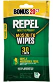 Repel 94100 Sportsmen 30-Percent Deet Mosquito Repellent Wipes, 2 Packs of 20 Count - 40 Total!