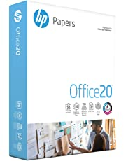 HP Printer Paper, Office20 Paper, 8.5 x 11 Paper, Letter Size, 92 Bright - 1 Ream / 500 Sheets (172160R)