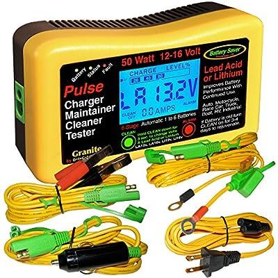 Battery Saver Lithium Battery Charger,Tester (12 & 16 Volt) 50 Watt 9950