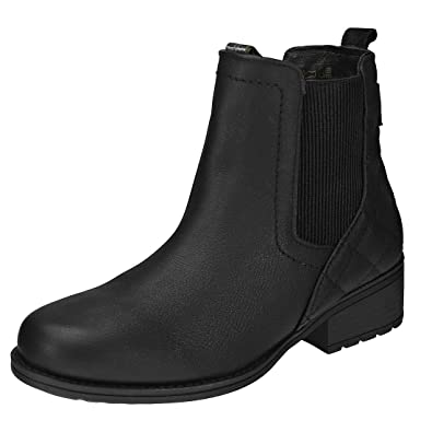 55d9f8dca5e7 Barbour Womens Rimini Chelsea Warm Winter Casual Leather Ankle Boots -  Black - 4.5