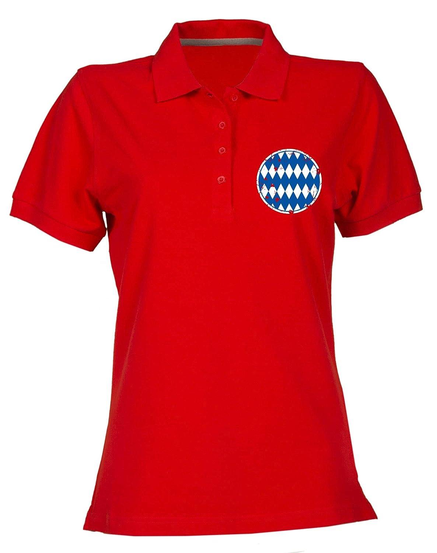 T-Shirtshock Polo para Mujer Rojo WC0212 Bayern Munich Old School ...