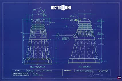Amazon doctor who dalek blue prints poster 36 x 24in dr who doctor who dalek blue prints poster 36 x 24in malvernweather Images