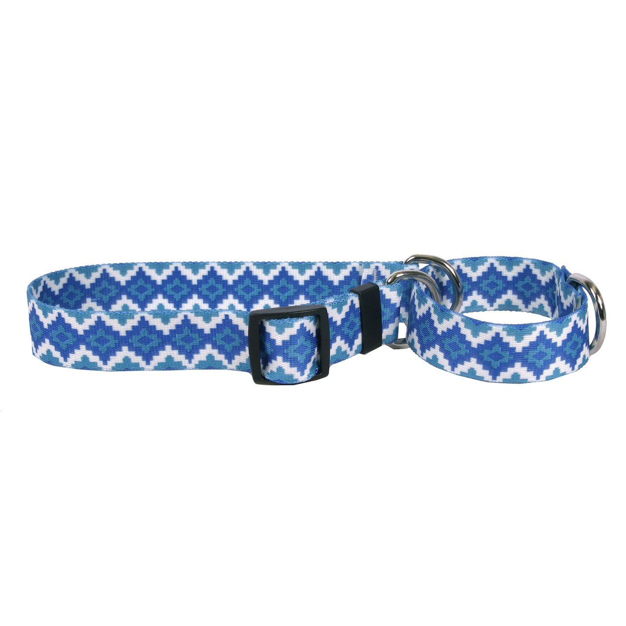 Yellow Dog Design Aztec Storm Martingale Dog Collar 1'' Wide and Fits Neck 14 to 20'', Medium