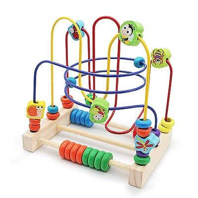 Abacus de Madera Juega Laberinto del Grano con 6 Insectos 3 Montaña Rusa Juguetes Educativos Regalo de los Niños para Niños Niñas 3 Años: Juguetes y juegos