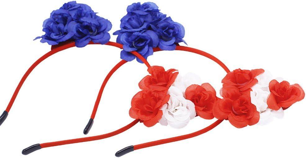 LUOEM Patriotique Bandeau Cheveux Band 4 juillet Cheveux Accessoire Drapeau Am/éricain Bandeau pour Jour du Drapeau National F/ête de lInd/épendance F/ête Patriotique 2 PCS