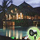 GESIMEI Starry Spotlights with Remote Control Indoor/Outdoor Waterproof Red and Green Decorative Lamp Christmas New Year Holiday Wedding Party Tree Garden Patio Stage Wall Landscape Lighting
