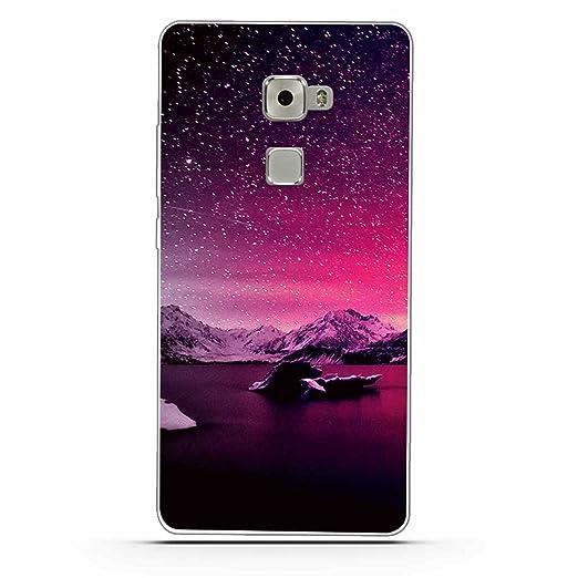 6 opinioni per Huawei Mate S Cover, Fubaoda Alta qualità Bella Aurora Notte Serie TPU Skin