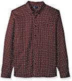 Fred Perry Men's Polka Dot Shirt, Mahogany, Medium