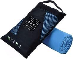 Toalla de Microfibra Deportiva , de Viaje y de Playa. Toalla Ultra Absorbente de Micro FIbra para Viajar Ligera y Portátil. Disponible en tamaño mediano de 50x100cm y en tamaño grande de 80x160cm. En color Azul, Gris y Rosa. Microfiber Suede Towel.