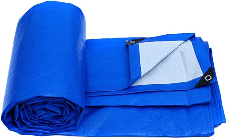 Waterproof Tarpaulin Lightweight Ground Sheet Camping Tarp Cover Blue