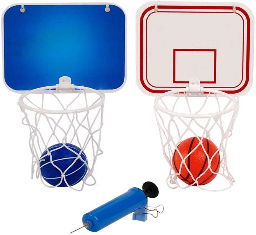 Wall Mounted Basketball Hoop Set Mini Basketball Hoop And Balls Single Spring Rim And Duty Nylon Net Fits Vertical Wall Indoor Outdoor Amazon Ca Sports Outdoors