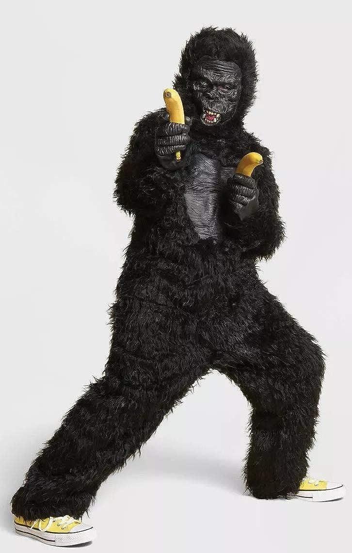 Kids Black Gorilla Halloween Costume