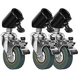 Jinbei 3er Set C-22 Stativrollen für Lampenstative mit max. 22 mm Beindurchmesser - verwandelt fast jedes Studiostativ in ein professionelles Rollstativ
