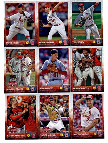 2015 Topps Baseball Cards St. Louis Cardinals Complete Master Team Set (Series 1 & 2 + Update - 40 Cards) With Jon Jay, Michael Wacha, Adam Wainwright, Shelby Miller, Lance Lynn, Trevor Rosenthal, Jhonny Peralta, Matt Carpenter