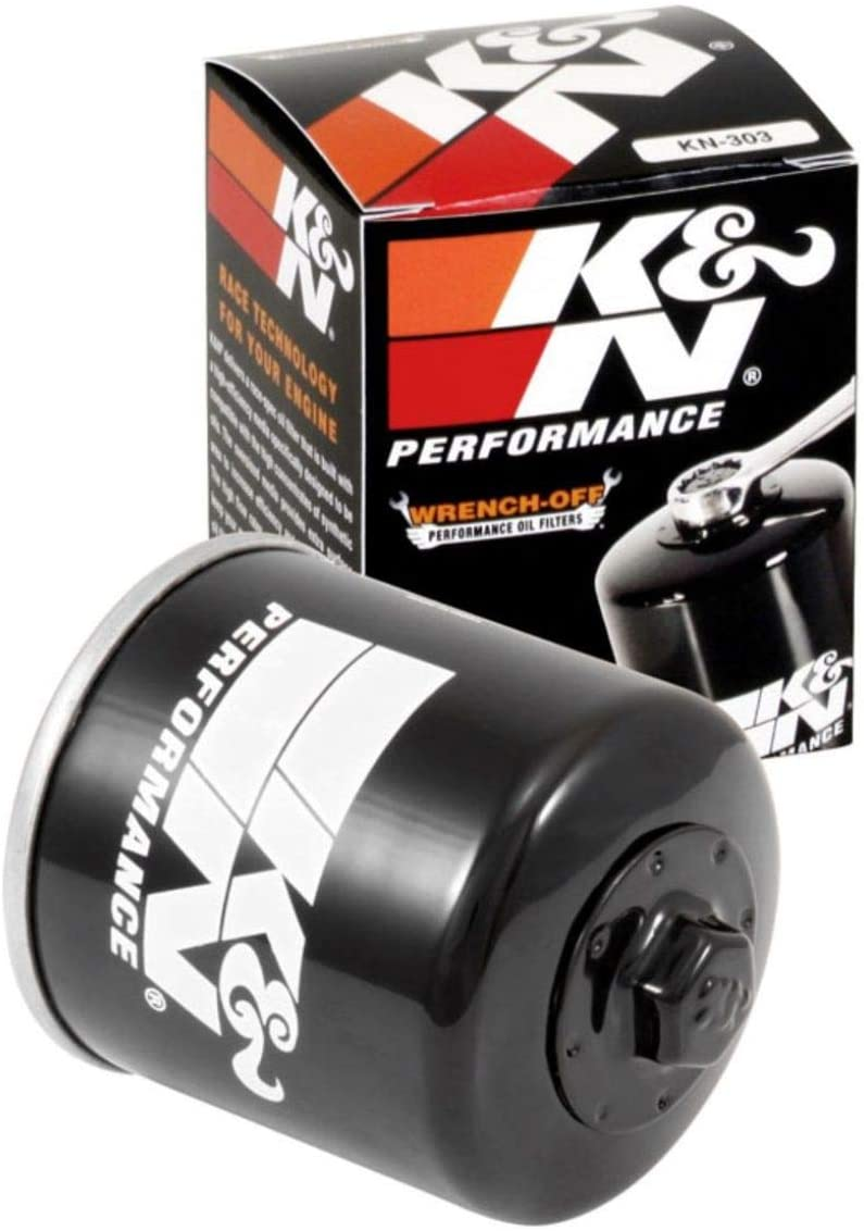 K&N Motorcycle Oil Filter: High Performance, Premium, Designed to be used with Synthetic or Conventional Oils: Fits Select Honda, Kawasaki, Polaris, Yamaha Vehicles, KN-303: Automotive