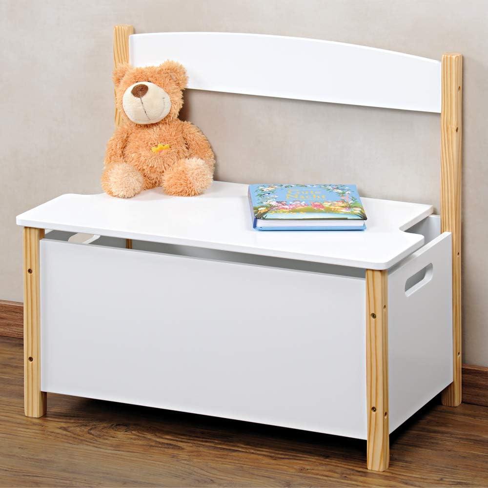 Kesper Panca per Bambini Bianco Legno 60 x 34,5 x 56 cm