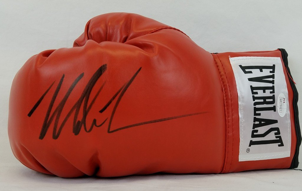 Mike Tyson Signed Red Everlast Left Handed Boxing Glove JSA Witness Autograph