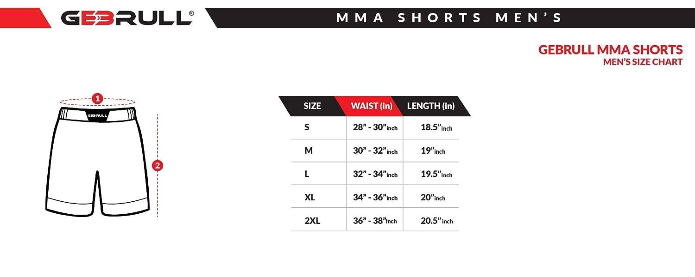 Herren MMA Kurze Hose f/ür Professionel Fitnessstudio Trainieren Kickboxen Kampfkunst Laufen Sports Gem/ütlich Passen Strecken Strecken Leicht