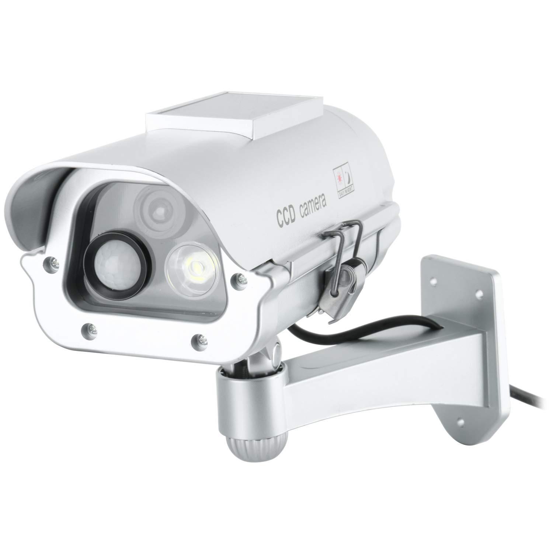 YaeCCC Fake Outdoor CCTV Security Camera w/Solar Panel Powered Strobe Light by YaeCCC
