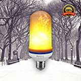 LED Flame Effect Bulb By Merkalia: Decorative UV Free E26/E27 Lightbulbs For Traditional Gas Lantern, Retrofit Oil & Hurricane Lamp - Retro Energy Saving Light Bulb With Flickering Flaming Fire