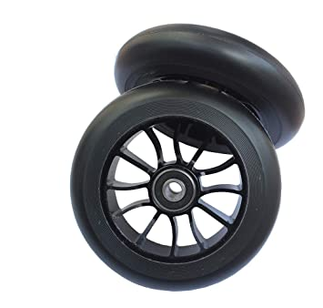 aibiku 2 * Ruedas de Patinete de 100 mm, con Rodamientos ABEC-9, para Land Surfer/Apollo / MGP Stunt Scooter, Freestyle Scooter (Negro): Amazon.es: Deportes ...