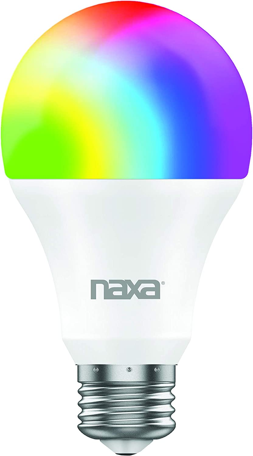 Alexa and Ifttt Google Home Compatible with Smart Life NAXA Electronics Nsh-2000 Wi-Fi Smart Bulb