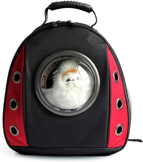 WYYZSS Portador de Mascotas,Bolsa de Viaje para Gatos,Astronauta Perro Ligero,Mochila para Gatos,Portador,Transparente,Transpirable,Pequeña Mascota,Bolso de bandoleras para Viajes de excursión,Red: Amazon.es: Deportes y aire libre