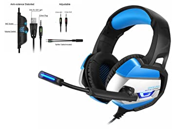 STRIR Auriculares Gaming Premium Stereo con Microfono para PS4 PC Xbox one, Cascos Gaming con