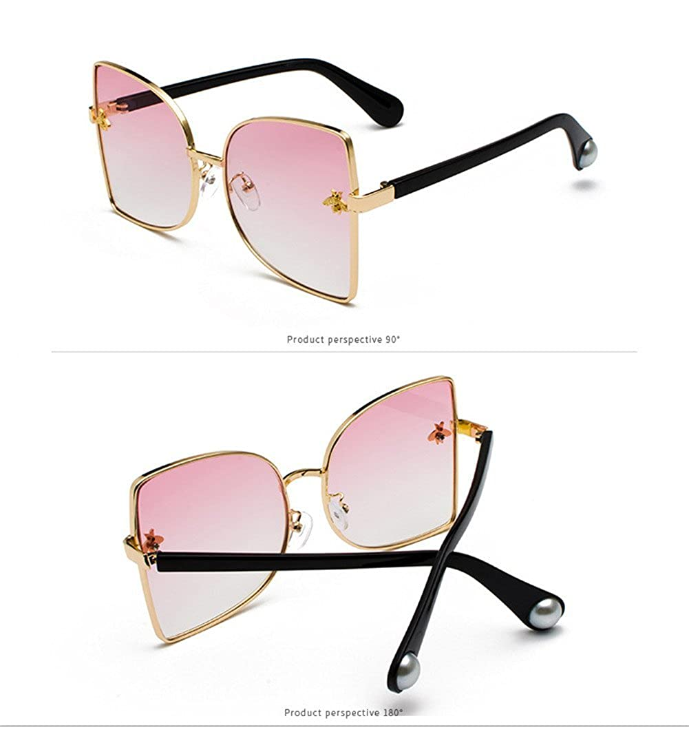 gs000053 lureme Silm Frame Decoration with Little Bee Big UV Protection Sunglasses for Women